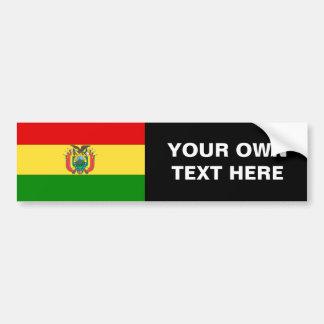 Bandera de Bolivia Etiqueta De Parachoque