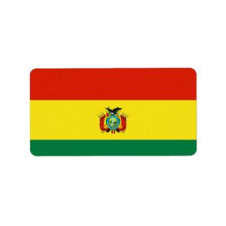 Bandera de Bolivia Etiqueta De Dirección