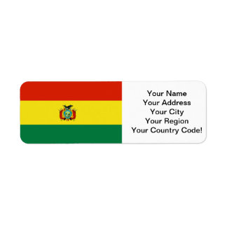 Bandera de Bolivia Etiquetas De Remite