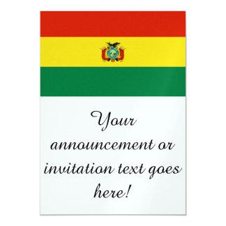 Bandera de Bolivia Invitación 12,7 X 17,8 Cm