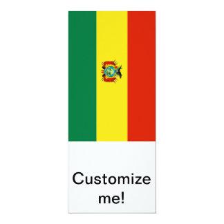 Bandera de Bolivia Invitación 10,1 X 23,5 Cm