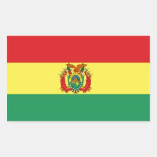 Bandera de Bolivia Rectangular Pegatinas