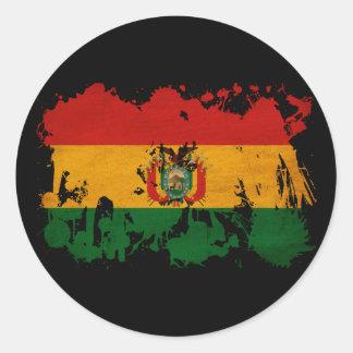 Bandera de Bolivia Pegatina Redonda
