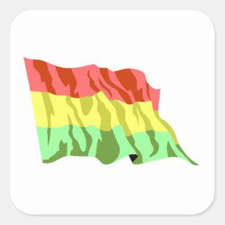 Bandera de Bolivia Calcomania Cuadradas Personalizada