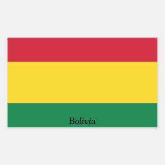 Bandera de Bolivia Rectangular Pegatina