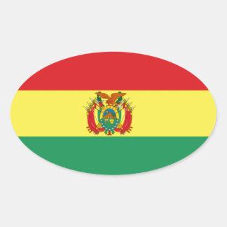 Bandera de Bolivia Calcomania Oval Personalizadas