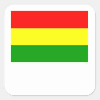 Bandera de Bolivia Pegatinas Cuadradas