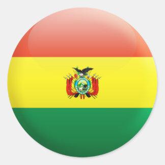 Bandera de Bolivia Etiquetas Redondas