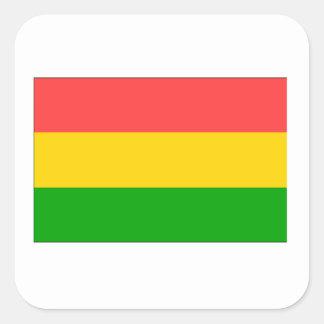 Bandera de Bolivia Colcomanias Cuadradas Personalizadas