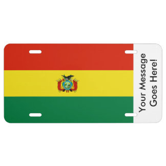 Bandera de Bolivia Placa De Matrícula