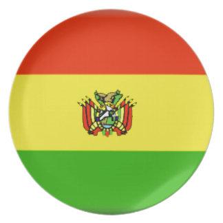 Bandera de Bolivia Plato Para Fiesta