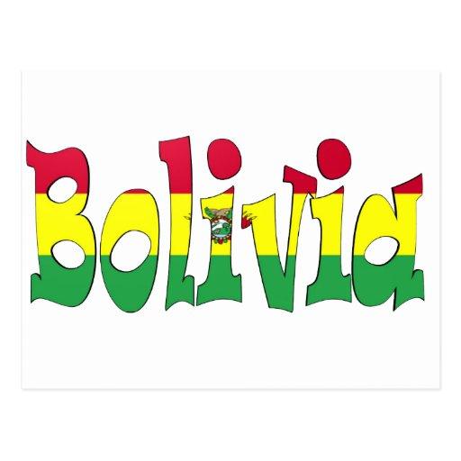 Bandera de Bolivia Tarjeta Postal