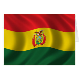 Bandera de Bolivia Tarjetón