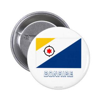 Bandera de Bonaire con nombre Pins