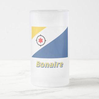 Bandera de Bonaire con nombre Tazas De Café