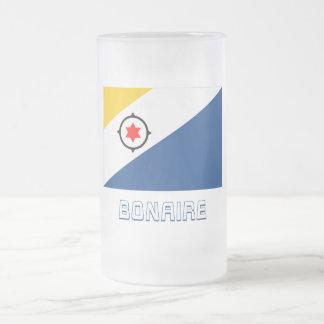 Bandera de Bonaire con nombre Tazas