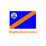 Bandera de Bophuthatswana con nombre Postales