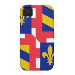 Bandera de Borgoña (Francia) iPhone 4/4S Carcasas