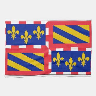 Bandera de Borgoña Francia Toalla