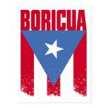 Bandera de Boricua Tarjetas Postales