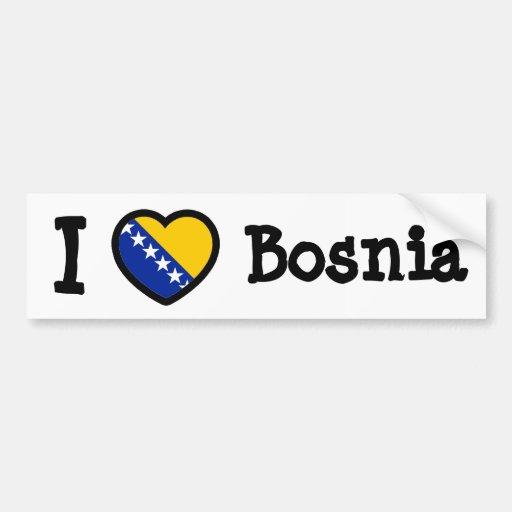 Bandera de Bosnia Pegatina Para Auto