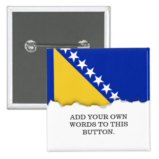Bandera de Bosnia Pin Cuadrado