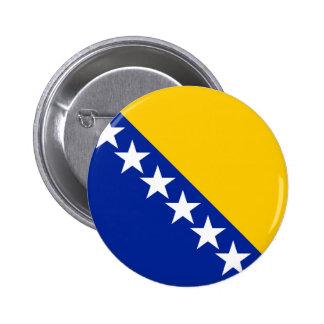 Bandera de Bosnia Pin Redondo De 2 Pulgadas