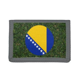 Bandera de Bosnia y Hercegovina en hierba