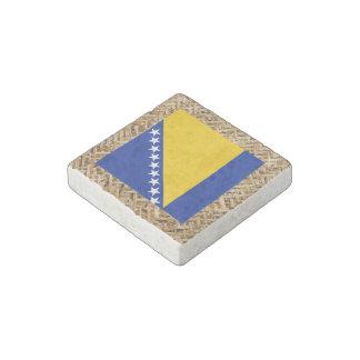 Bandera de Bosnia y Hercegovina en la materia Imán De Piedra