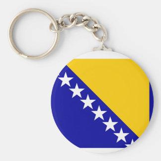 Bandera de Bosnia y Hercegovina Llavero Redondo Tipo Pin