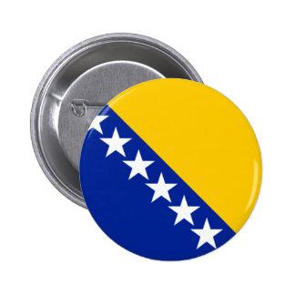 Bandera de Bosnia y Herzegovina Pin Redondo De 2 Pulgadas