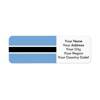Bandera de Botswana Etiquetas De Remite