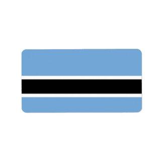 Bandera de Botswana Etiqueta De Dirección