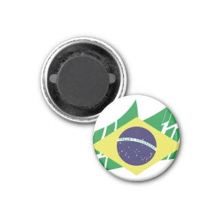 Bandera de Brasil estilo Iman De Frigorífico