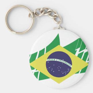 Bandera de Brasil estilo Llaveros Personalizados