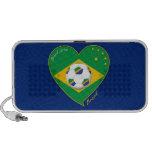 Bandera de BRASIL FÚTBOL campeón del mundial Mini Altavoz