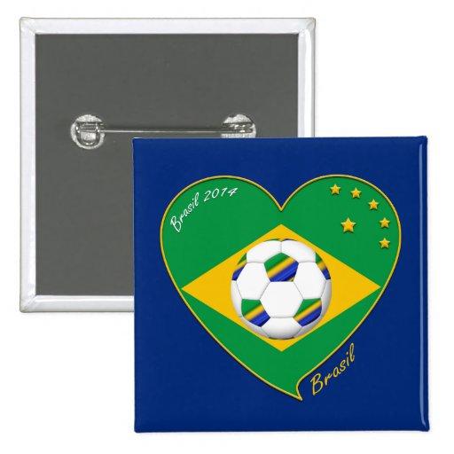 Bandera de BRASIL FÚTBOL campeón del mundial Pins