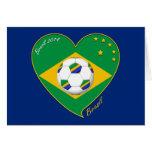 Bandera de BRASIL FÚTBOL campeón del mundial Felicitación
