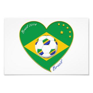 Bandera de BRASIL FÚTBOL de campeones del mundo Fotografía