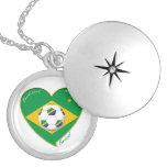 Bandera de BRASIL FÚTBOL del mundo equipo nacional Joyeria Personalizada