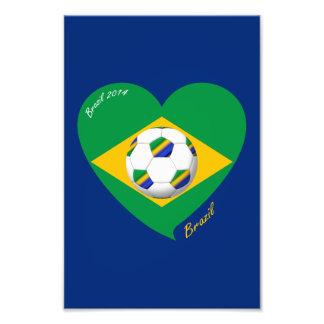 Bandera de BRAZIL FÚTBOL equipo nacional 2014 Fotografías