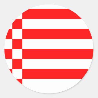 Bandera de Bremen, Alemania Pegatinas Redondas