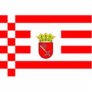 Bandera de Bremen (brazos medios), Georgia Fotoescultura Vertical