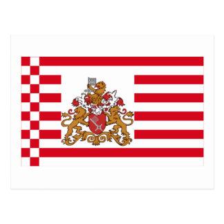 Bandera de Bremen con mayores brazos Postales