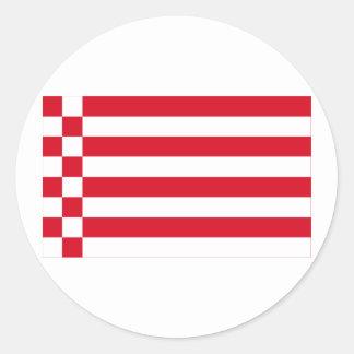 Bandera de Bremen sin los brazos Pegatinas Redondas