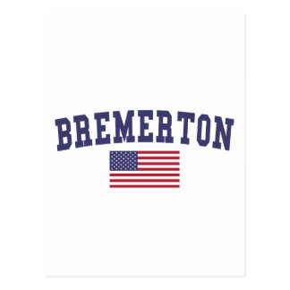 Bandera de Bremerton los E.E.U.U. Tarjeta Postal
