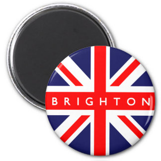 Bandera de Brighton Reino Unido Imán Redondo 5 Cm