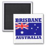 Bandera de Brisbane Australia Imanes Para Frigoríficos