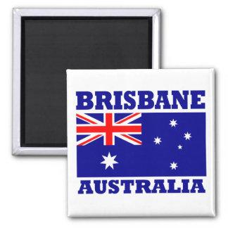Bandera de Brisbane Australia Imán Cuadrado