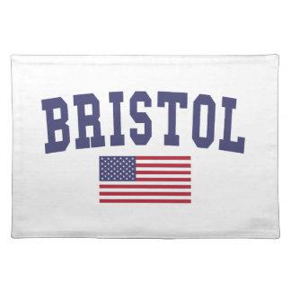 Bandera de Bristol los E.E.U.U. Mantel